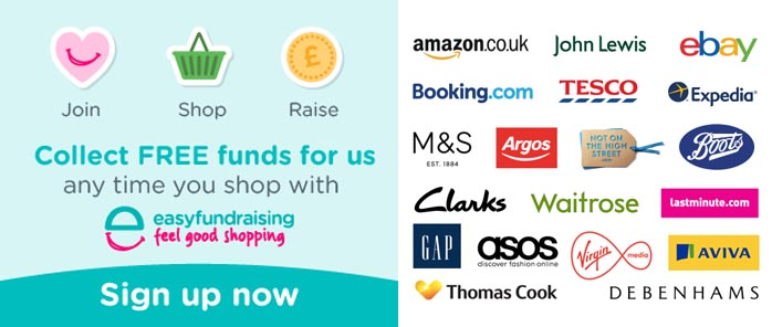Easyfundraising sign-up